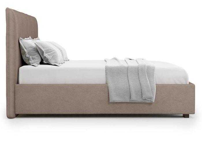 Кровать Brachano 160х200 темно-бежевого цвета