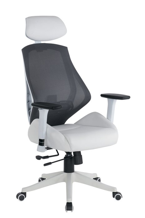 Кресло компьютерное Spase бело-серого цвета