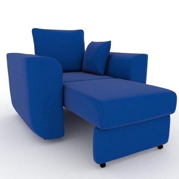 Кресло-кровать Stamford синего цвета
