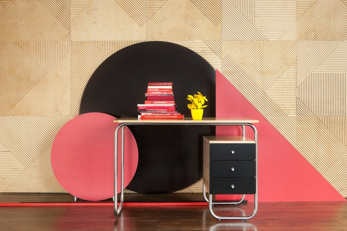 Рабочий стол Bauhaus с тремя выдвижными ящиками