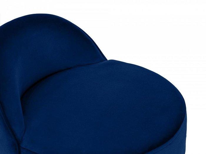 Пуф со спинкой Axel темно-синего цвета