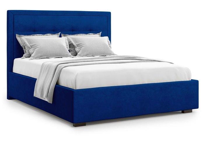 Кровать Komo 180х200 синего цвета с подъемным механизмом
