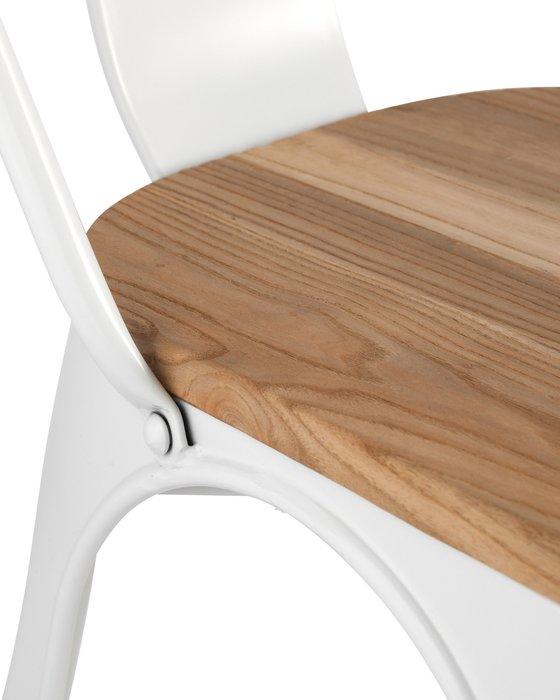 Стул Tolix Wood белого цвета