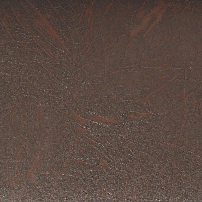 Банкетка на металлокаркасе Грация коричневого цвета (экокожа)