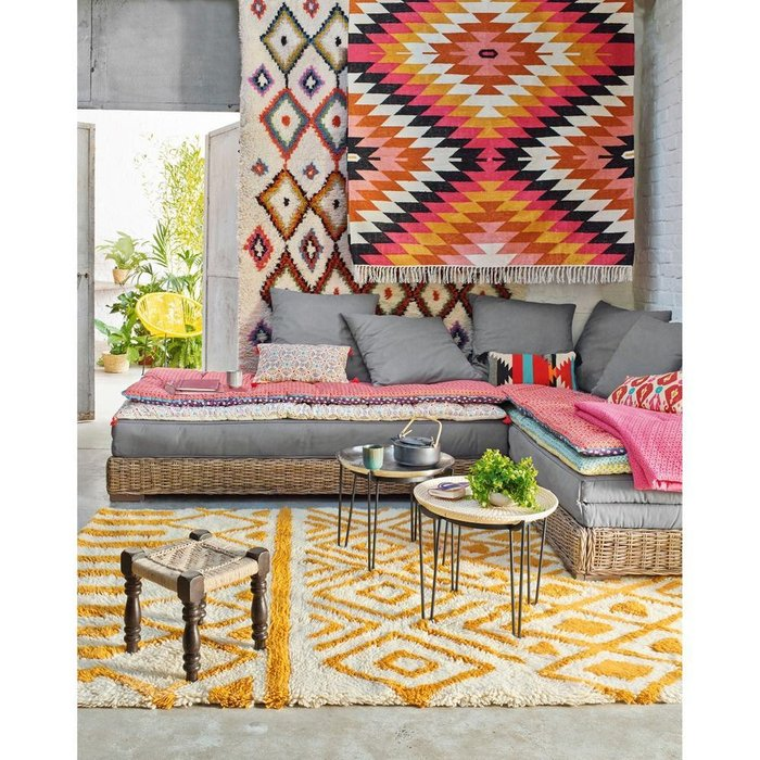 Ковер Ourika в берберском стиле разноцветный 160x230