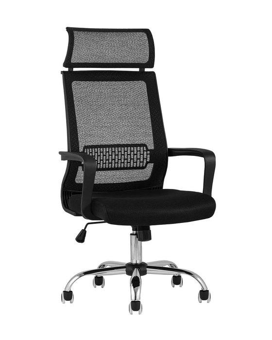 Кресло офисное Top Chairs Style черного цвета
