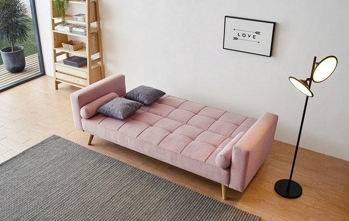 Диван-кровать Scandinavia розового цвета