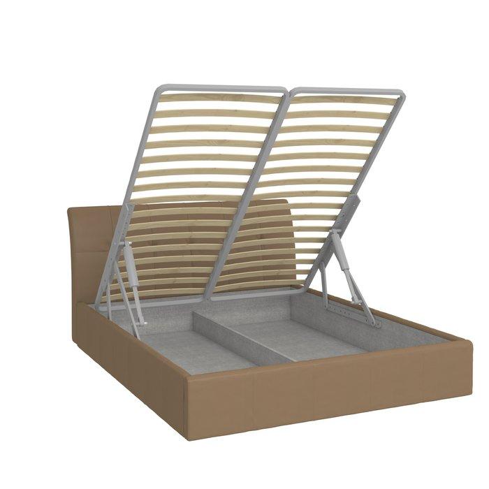 Кровать Инуа 180х200 коричневого цвета с подъемным механизмом