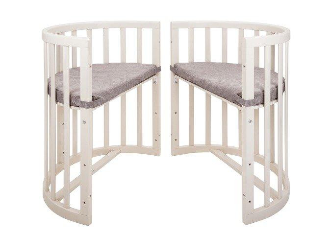 Кроватка-трансформер Ellipsebed 70х120 молочного цвета