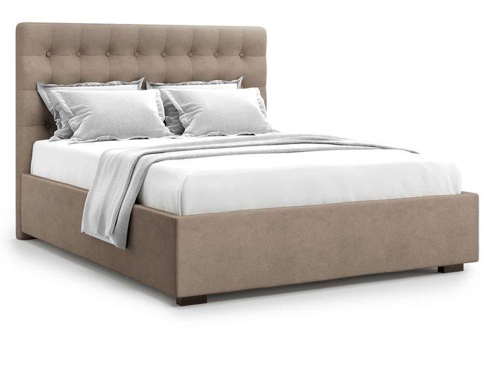 Кровать с подъемным механизмом Brayers 160х200 темно-бежевого цвета