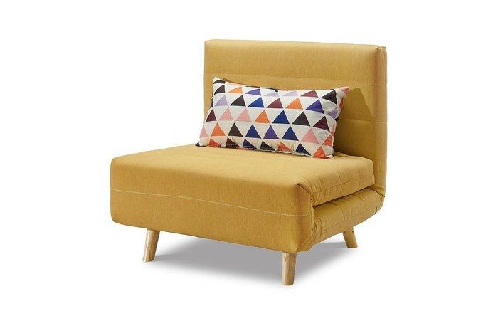 Кресло-кровать Flex желтого цвета