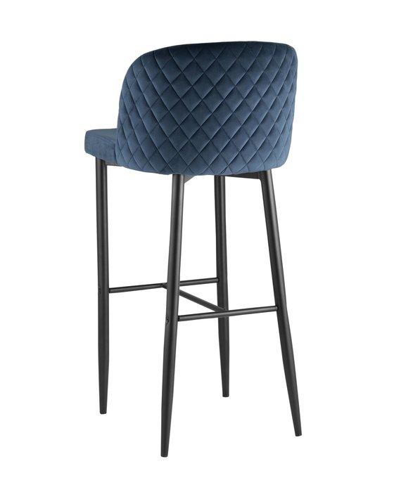 Барный стул Оскар синего цвета