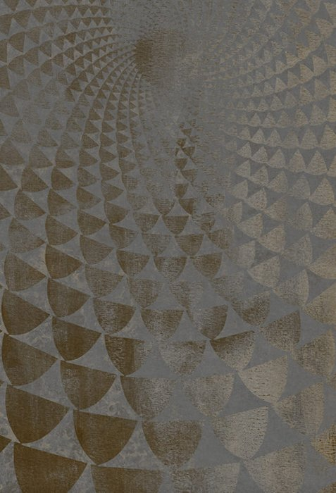 Хлопковый ковер Lucertola 152х228 серо-золотого цвета