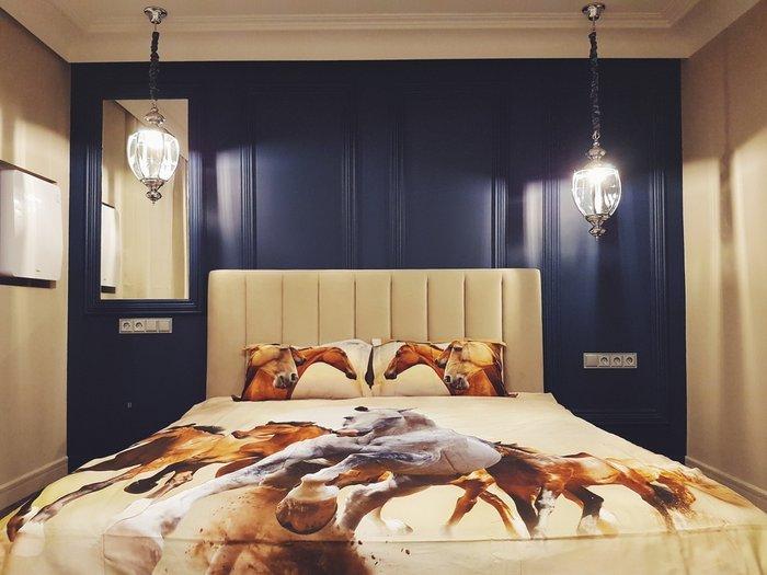 Кровать Клэр 160х200 серо-бежевого цвета