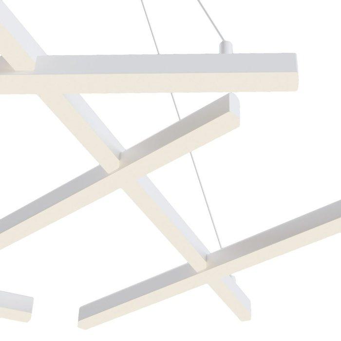 Подвесная люстра Line белого цвета