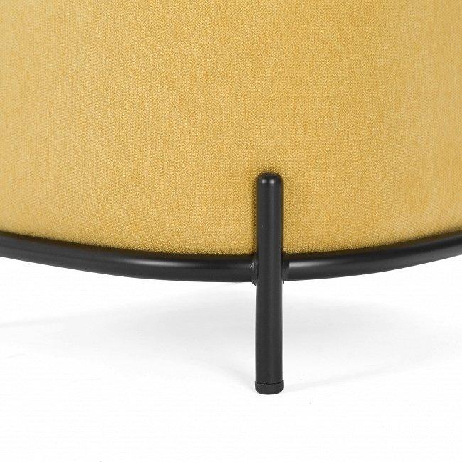 Пуф Pawai квадратный горчичного цвета