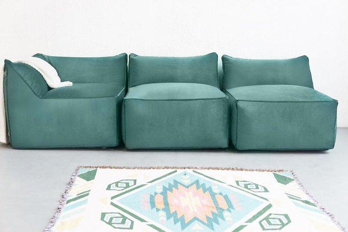 Кресло Angle Velur бирюзового цвета