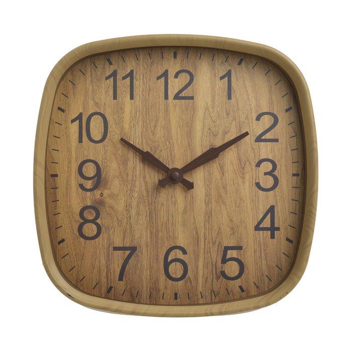 Часы настенные светло-коричневого цвета