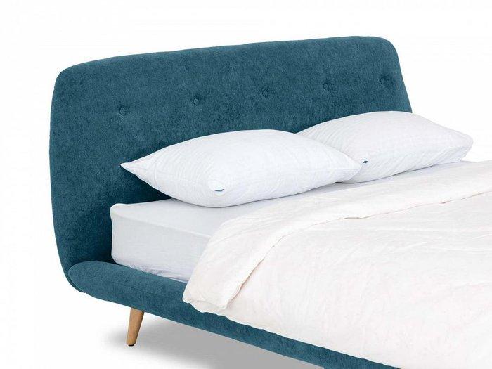 Кровать Loa 160х200 синего цвета