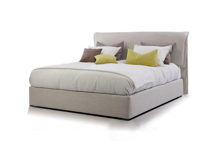 Кровать City 160х200 с подъемным механизмом светло-серого цвета