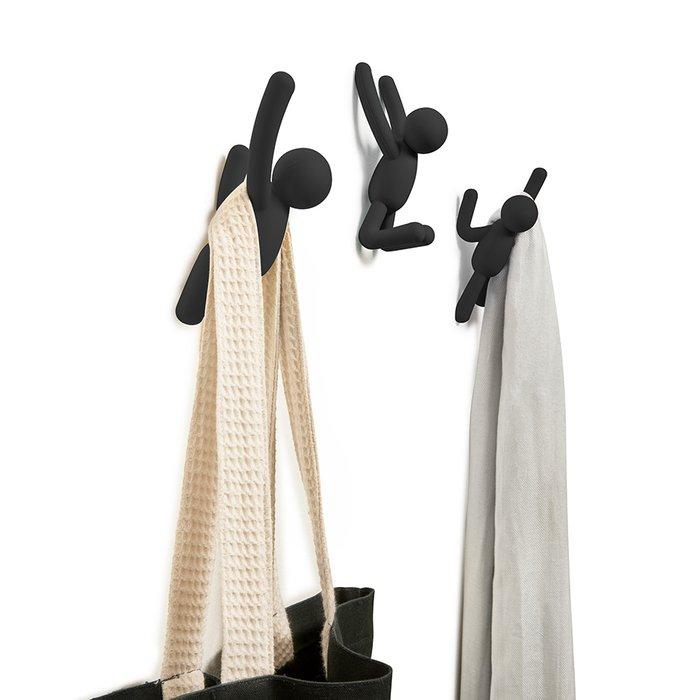 Вешалки-крючки Umbra Buddy 3 шт. черные