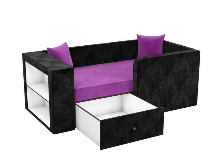 Детская кровать-диван Орнелла черно-фиолетового цвета