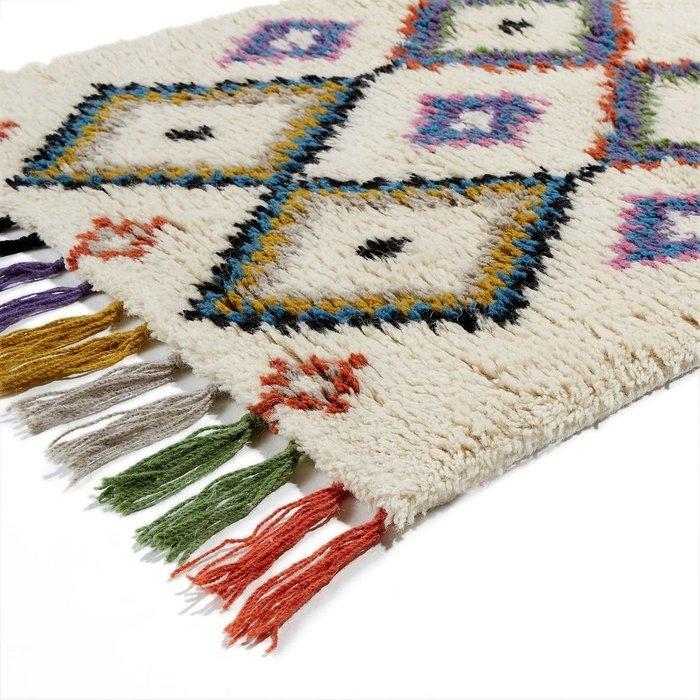 Ковер Ourika для коридора в берберском стиле разноцветный 80x200