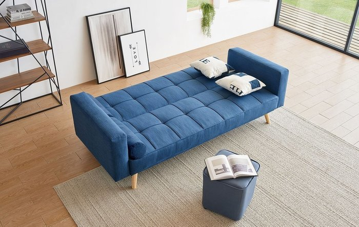 Диван-кровать Scandinavia темно-синего цвета