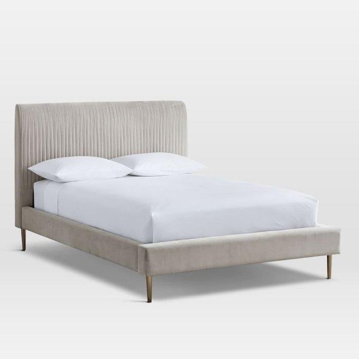 Кровать Амелия бежевого цвета 160х200