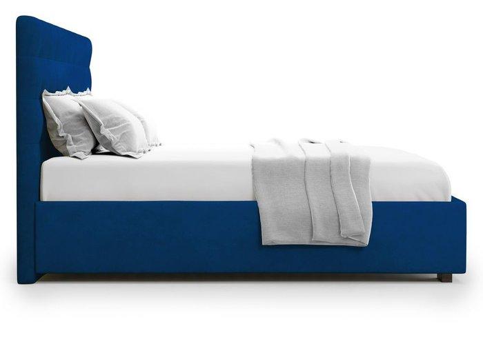 Кровать с подъемным механизмом Brayers 160х200 синего цвета