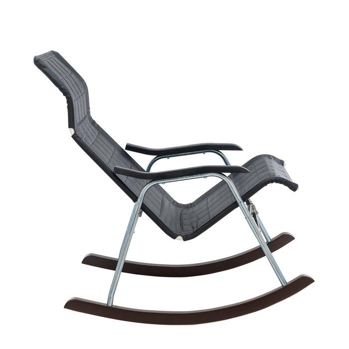 Кресло-качалка складная Белтех черного цвета