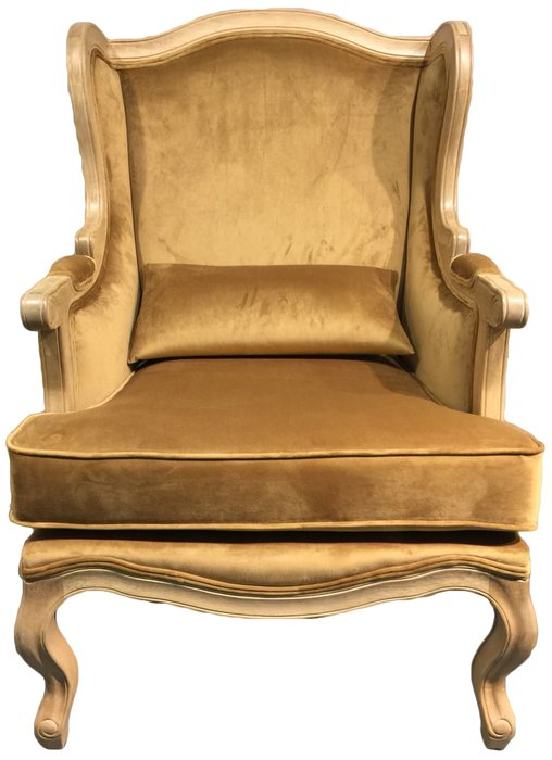 Кресло Сезарина золотого цвета