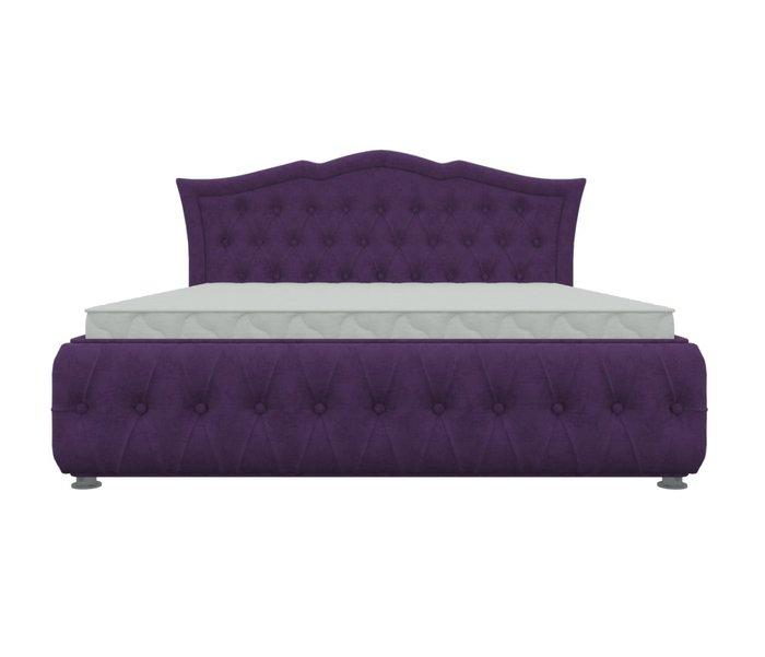 Кровать Герда 160х200 фиолетового цвета с подъемным механизмом