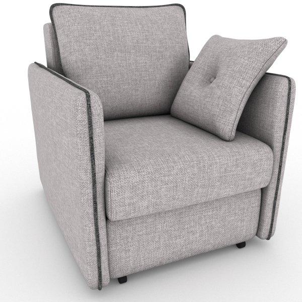 Кресло-кровать Cardinal серого цвета