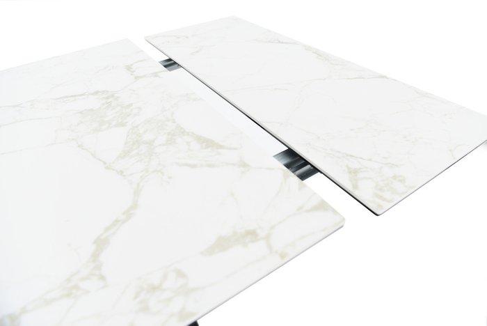 Обеденный раскладной стол Монако белого цвета