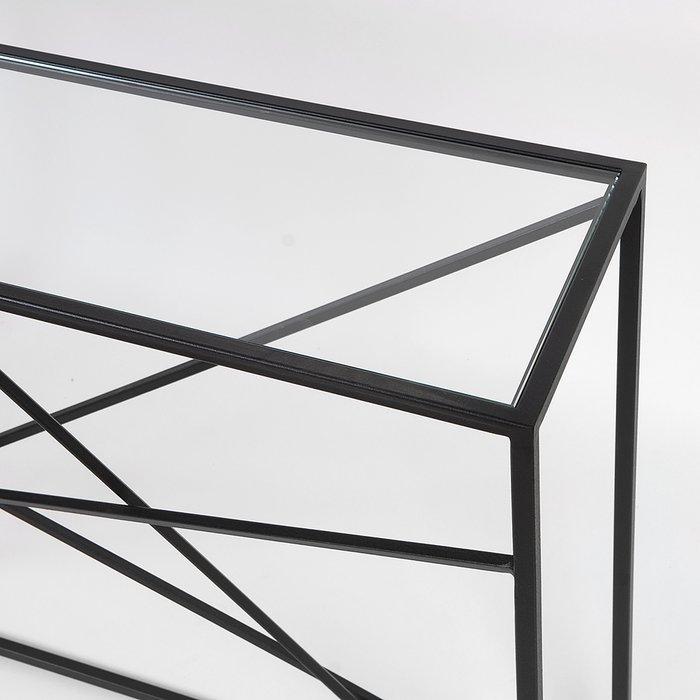 Консоль Wilson line black прозрачное стекло