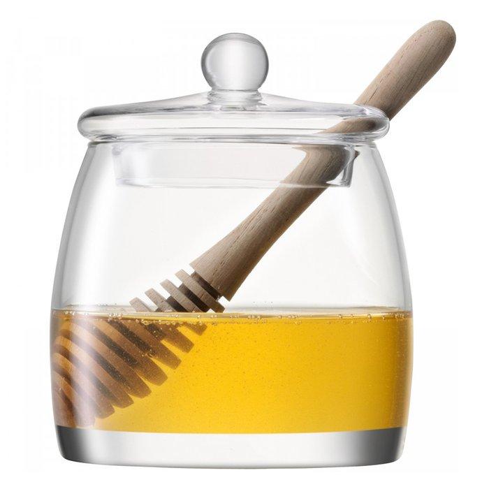 Банка для мёда с деревянной ложкой LSA serve