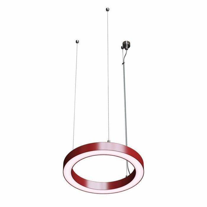 Подвесной светильник Ring 1 красного цвета