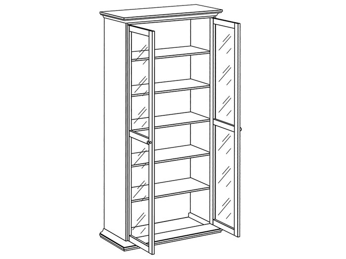 Шкаф-витрина двухдверный распашной