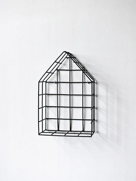 Полка-домик Black S черного цвета