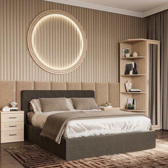 Кровать Инуа 180х200 черного цвета с подъемным механизмом