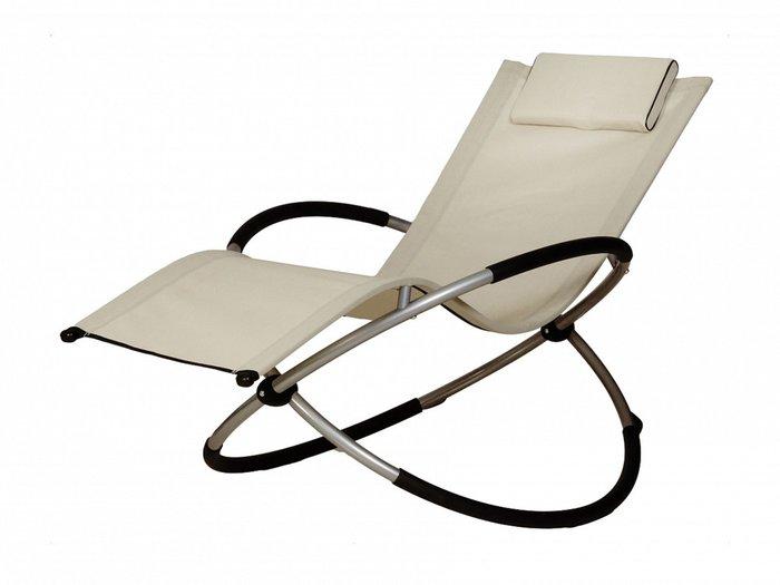 Шезлонг-качалка Lounge бежевого цвета