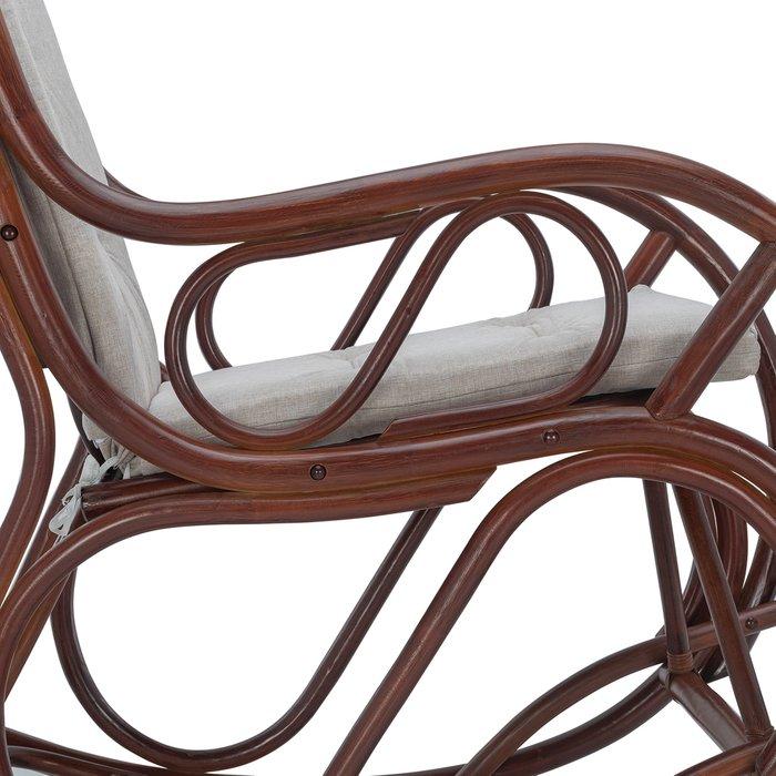 Кресло-качалка Classic с подушкой серого цвета