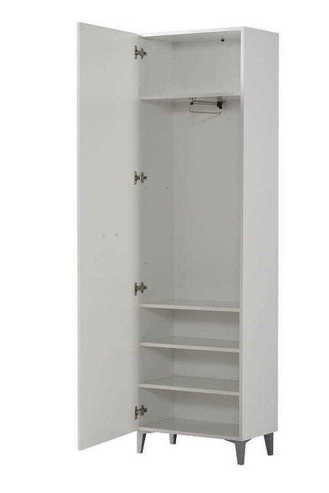Шкаф для одежды Комо белого цвета