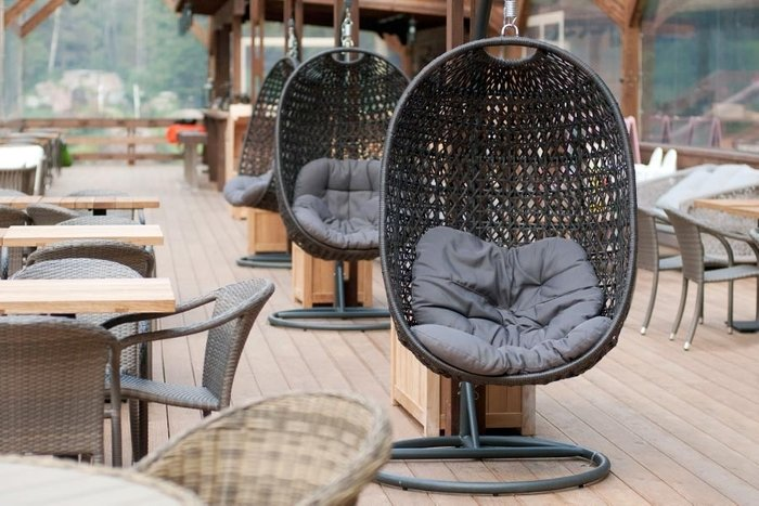 Подвесное кресло Тенерифе темно-коричневого цвета