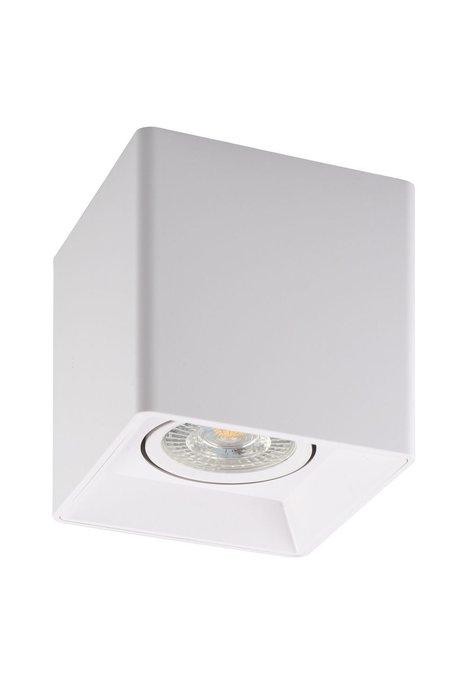 Точечный накладной светильник белого цвета