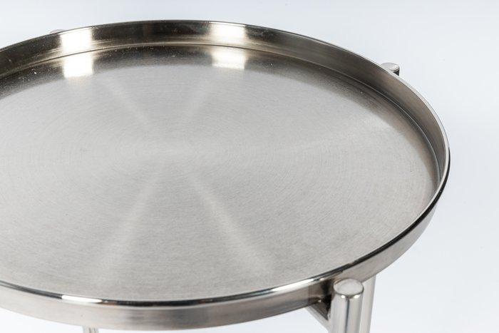 Кофейный столик Avril серебряного цвета