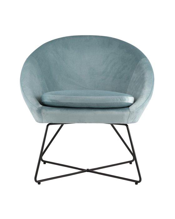 Кресло Колумбия пыльно-голубого цвета