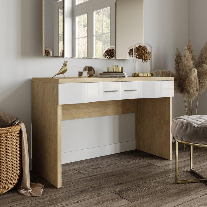 Туалетный стол Элеонора с фасадом белого цвета