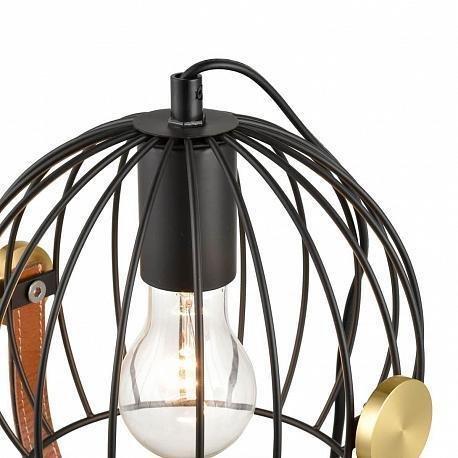 Настольная лампа Pasquale черного цвета